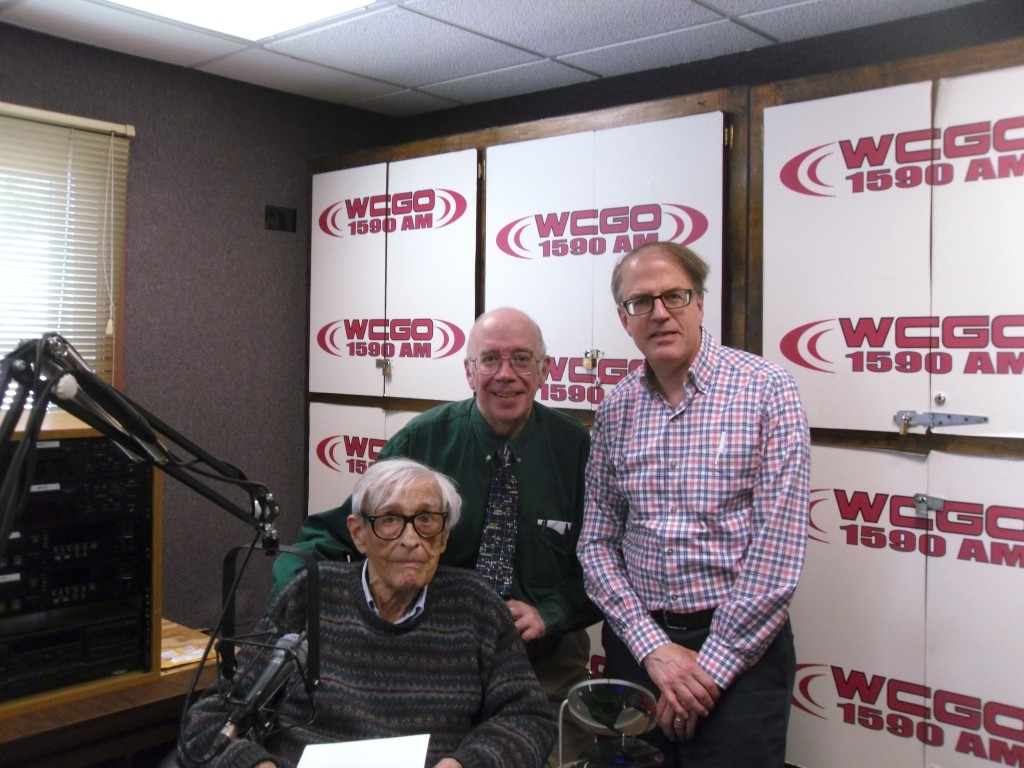 Milt Rosenberg welcomes Bill Melberg and Richard Easton to the WCGO studio.