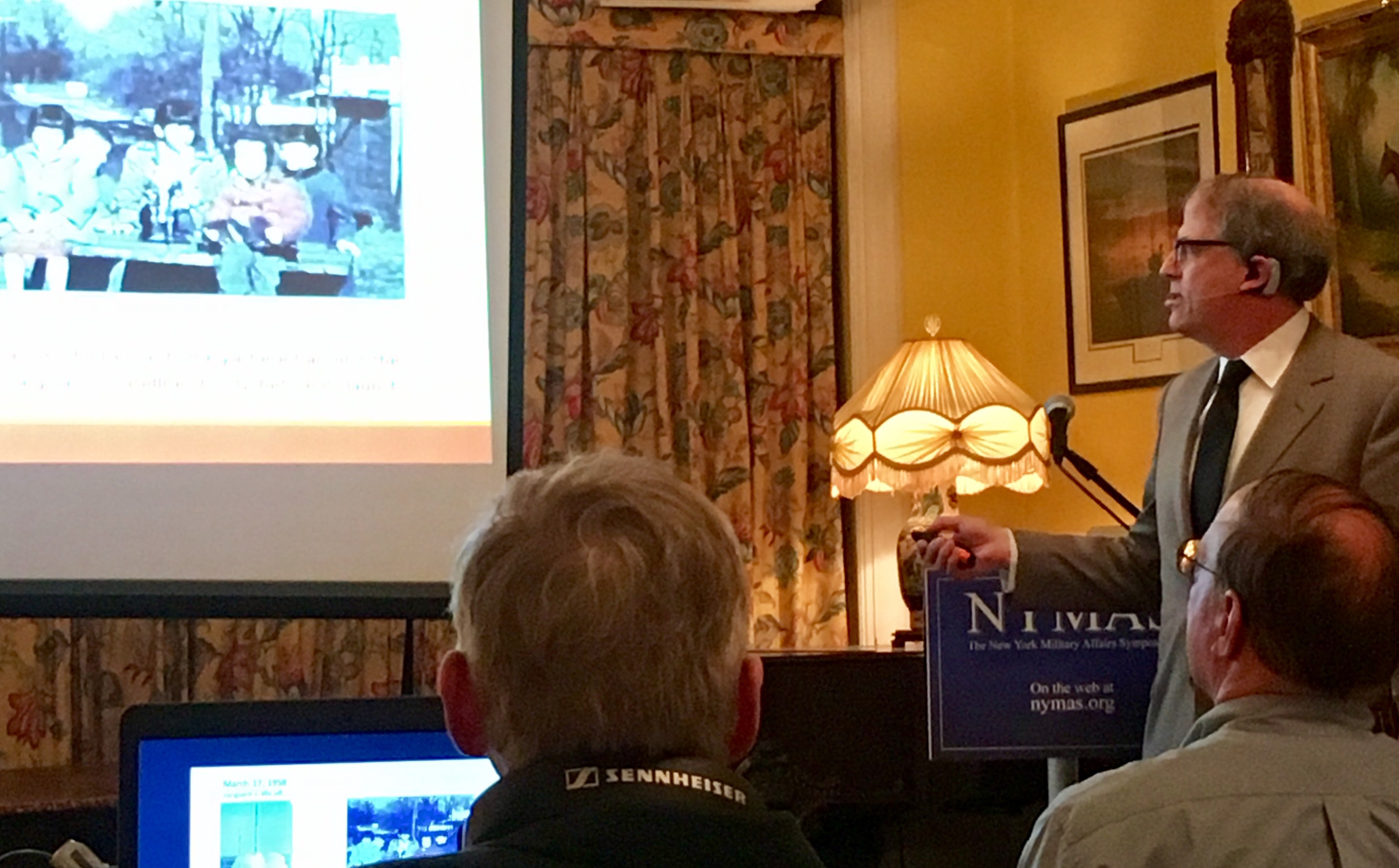 Richard D. Easton speaks at the New York Military Affairs Symposium May 5, 2017